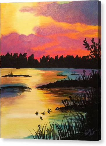 Swampy Sunset - Canvas Print