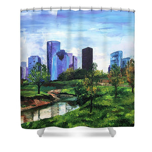 The City's Oasis - Shower Curtain