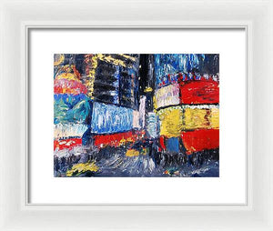 Times Square Abstracted - Framed Print