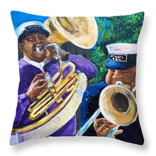Load image into Gallery viewer, Trombone Kid Tuba Jeff - Throw Pillow