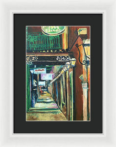 Walk With Me Down Rue Bienville - Framed Print