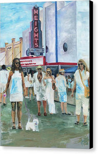 White Linen Night - Canvas Print