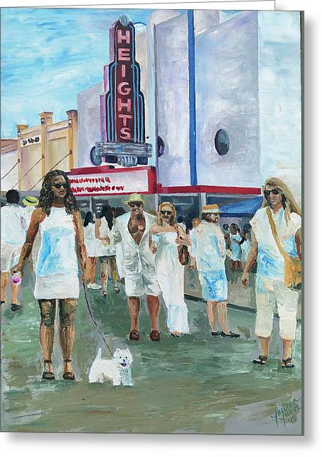 White Linen Night - Greeting Card