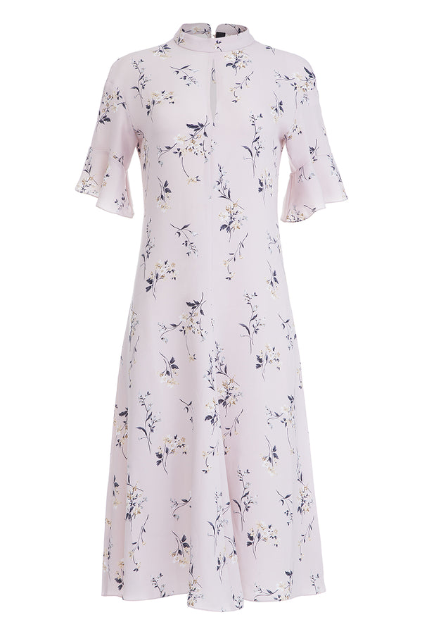 Powdery printed dress