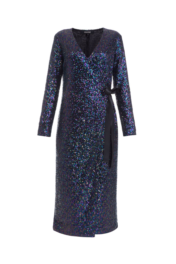 Dark blue dress with sequins