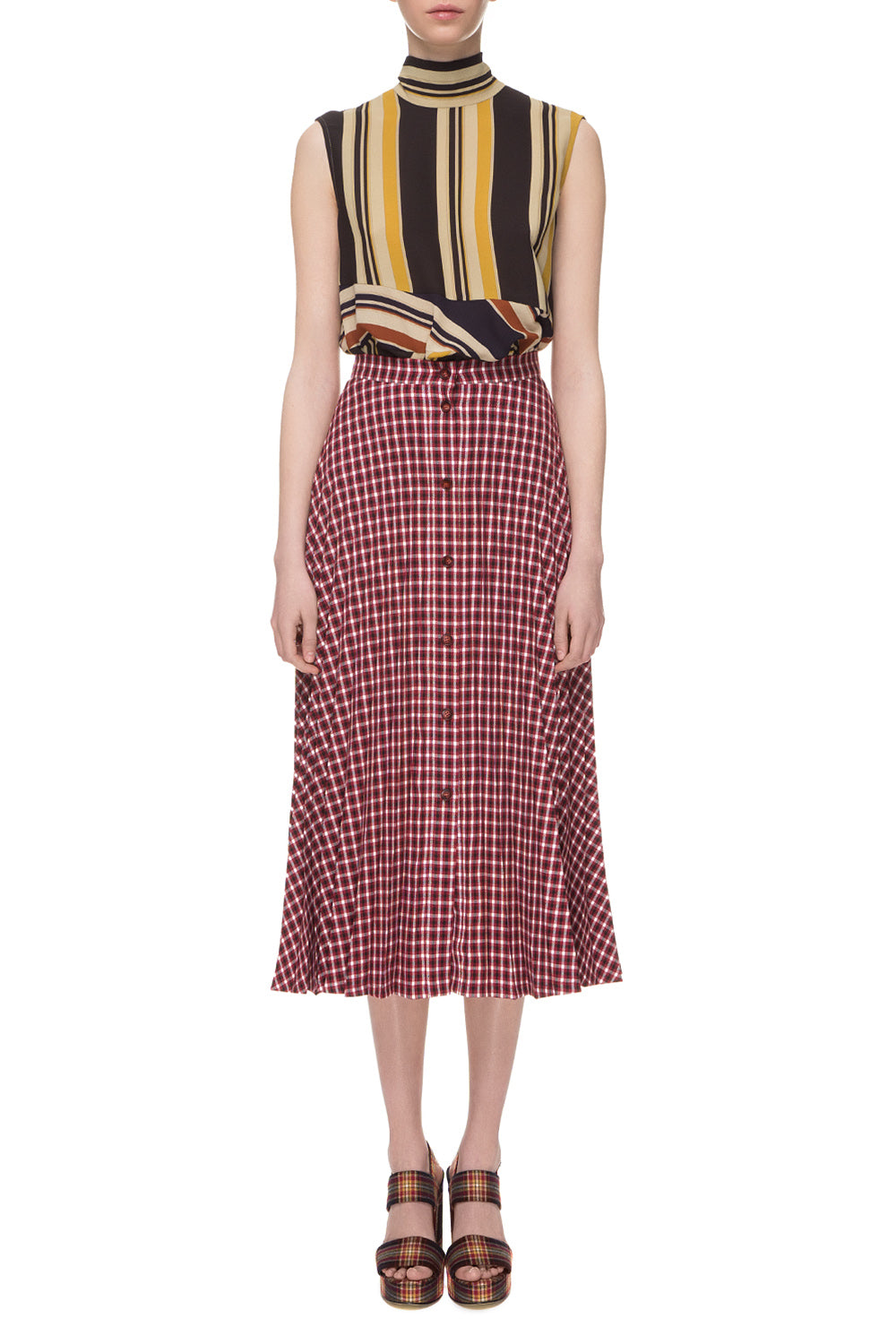 Tartan pleated skirt