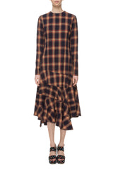 Tartan asymmetrical dress