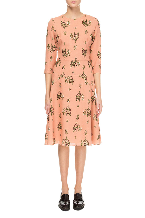 Peach printed dress