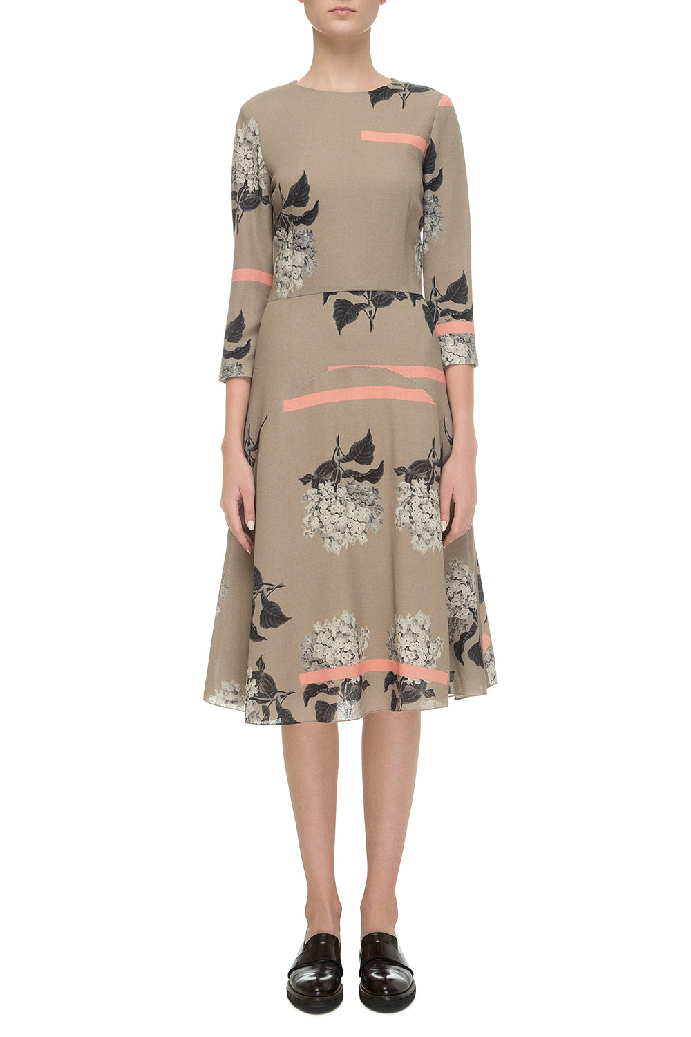 Beige printed dress