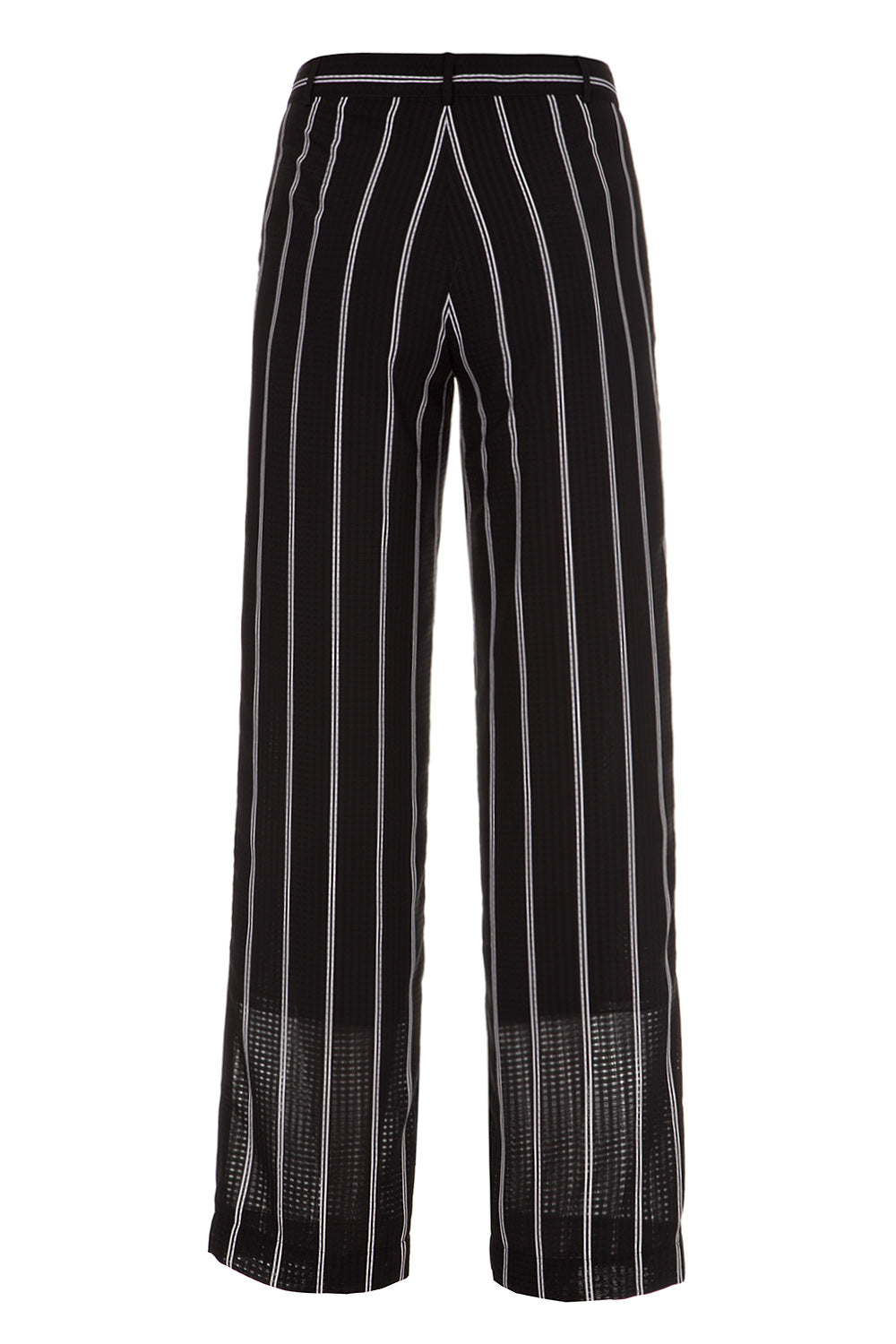 Black striped pants