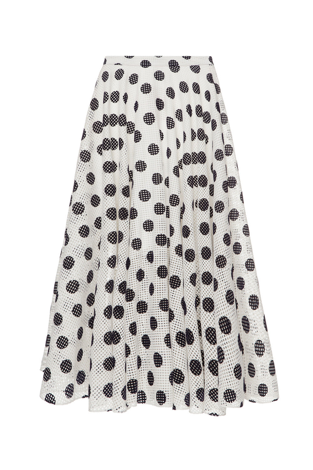 White polka dot skirt