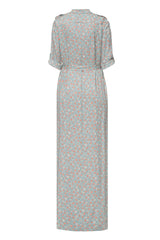 Gray printed maxi dress