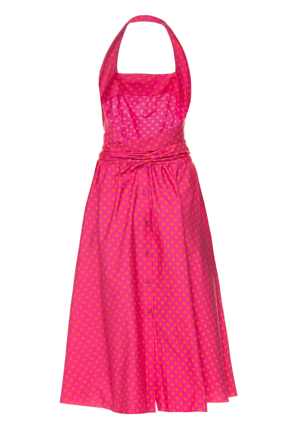 Pink polka dot sundress