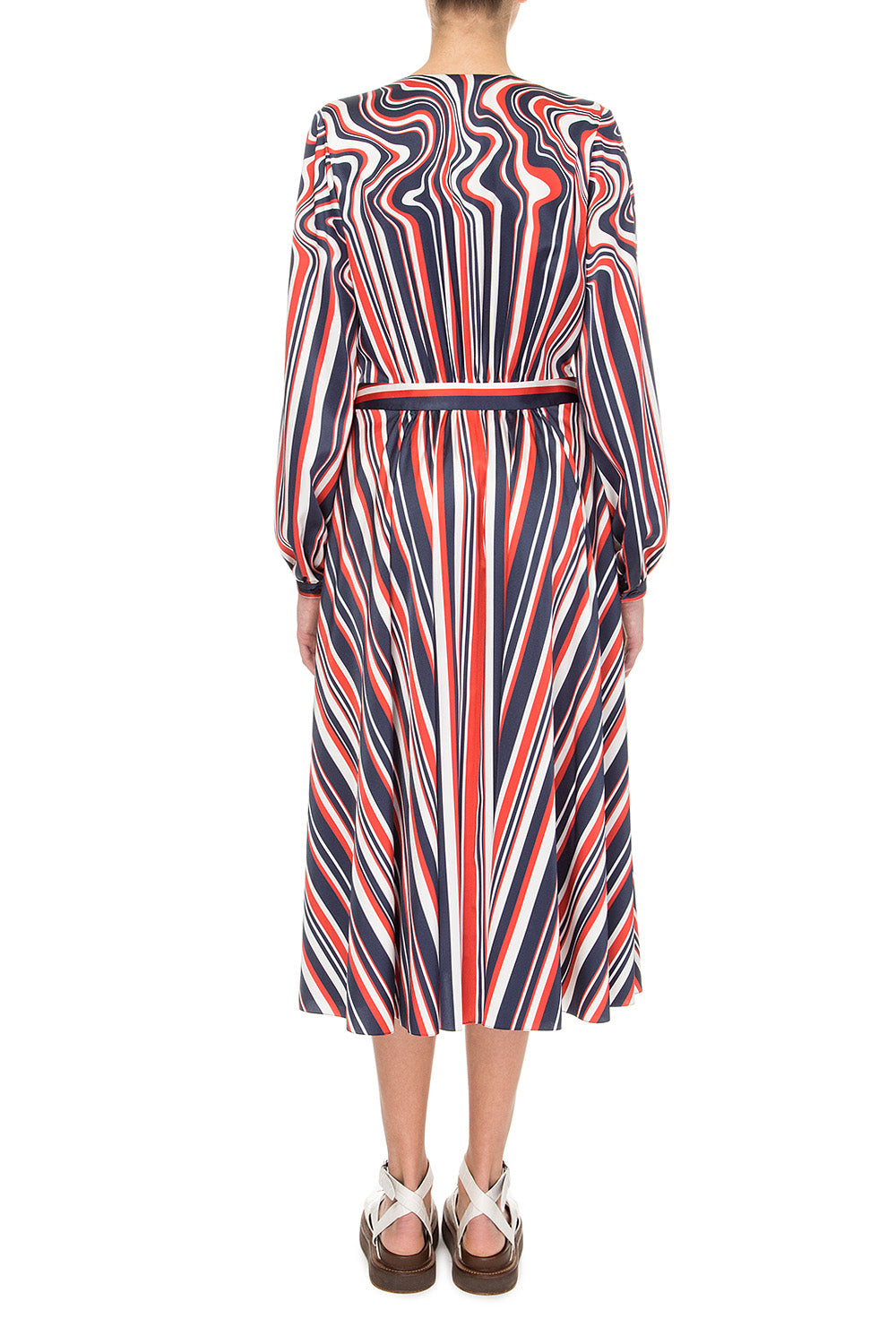 Printed striped dress