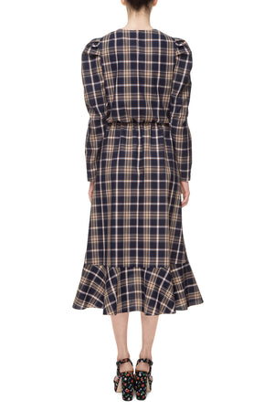 Tartan dark blue dress