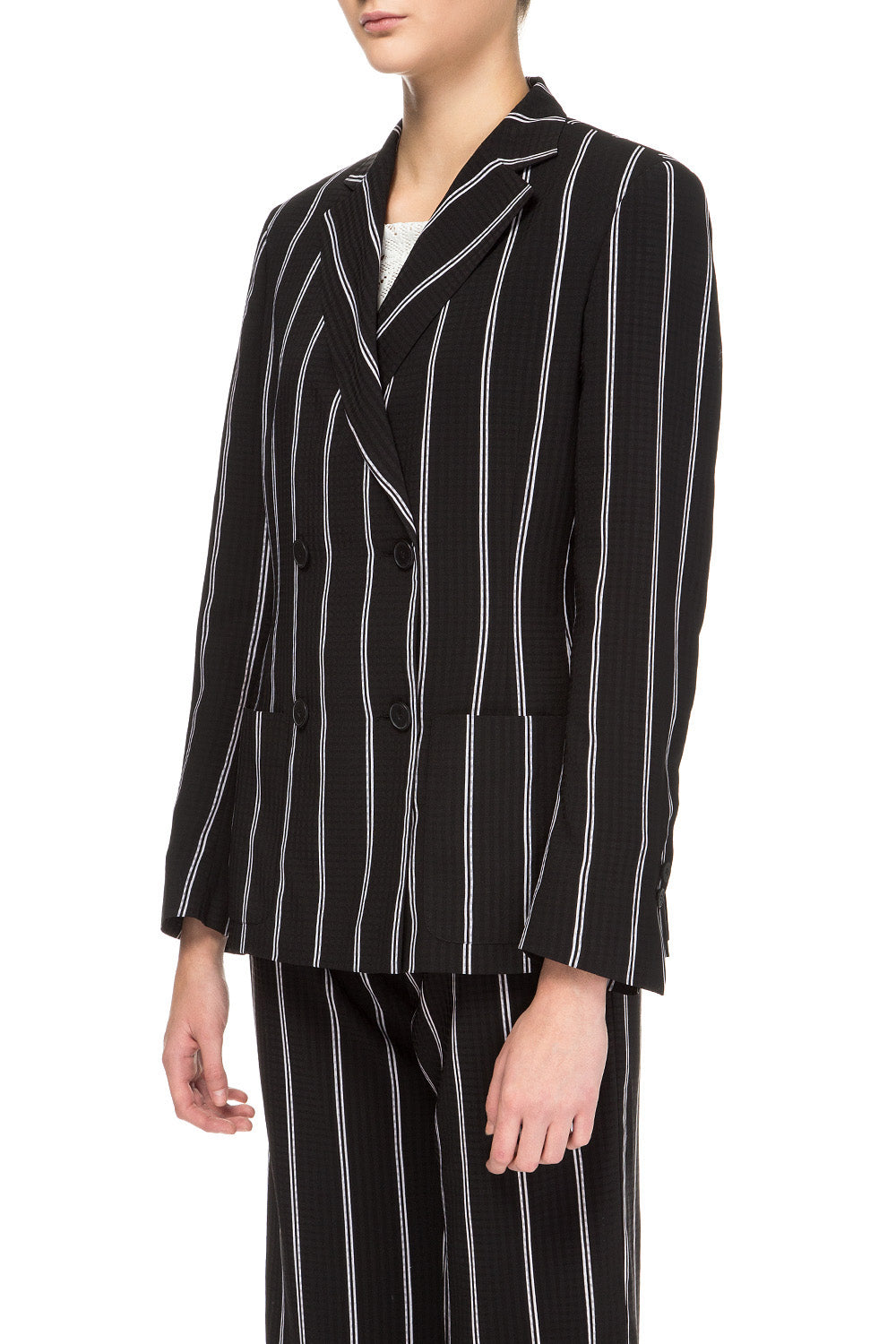 Black striped jacket