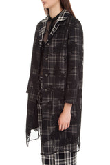 Black checkered coat