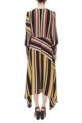 Striped chiffon dress