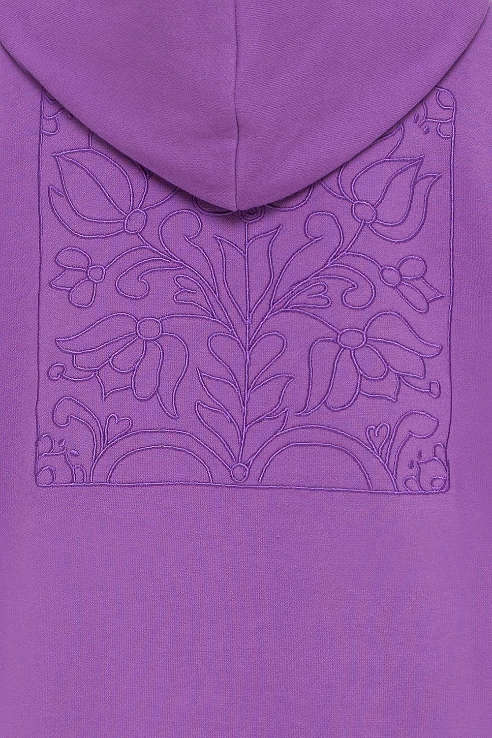 Purple hoodie with embroidery
