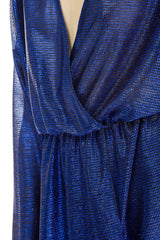 Blue wrap around dress