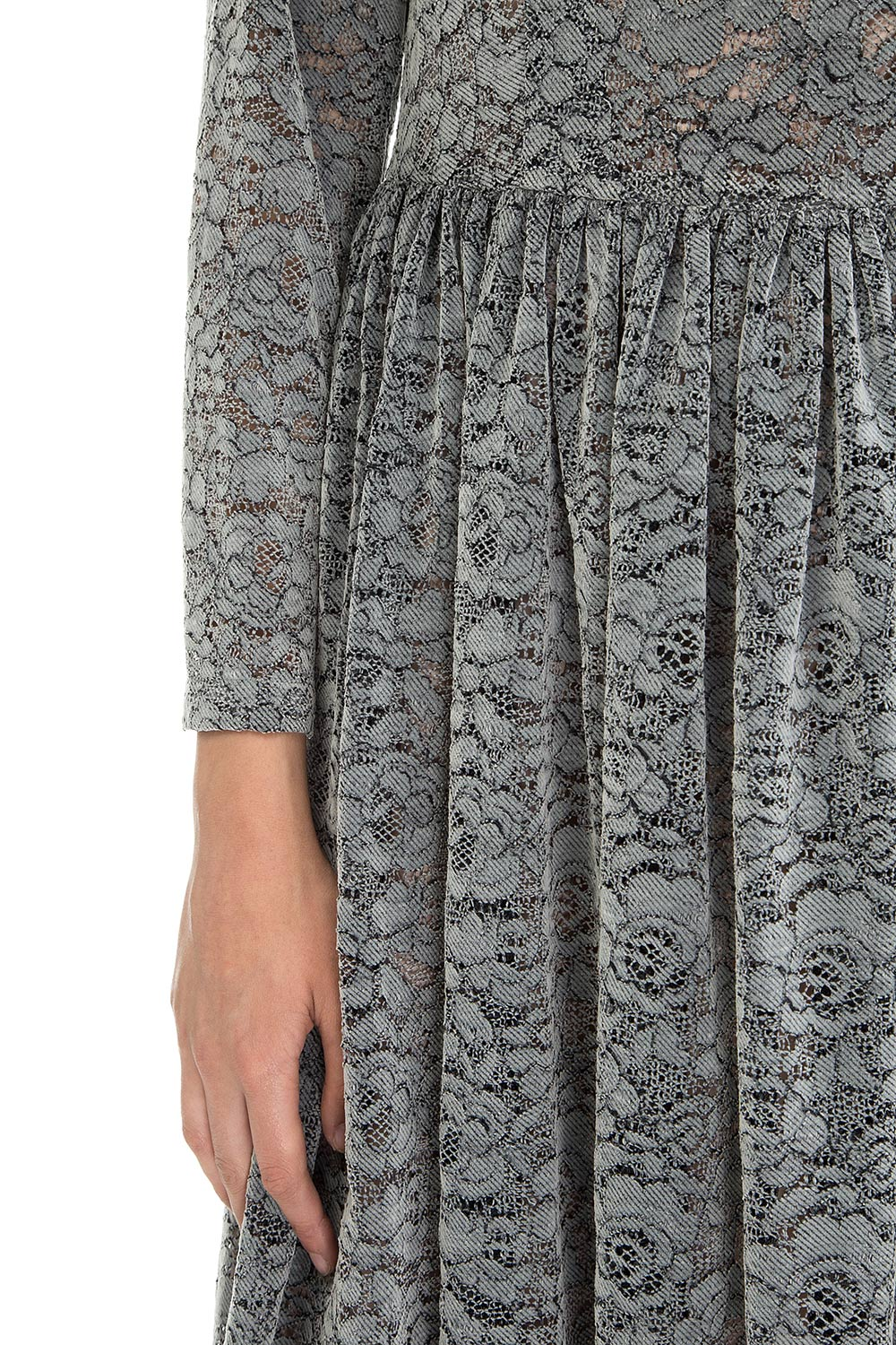 Gray lace dress