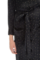 Black printed dress shirt