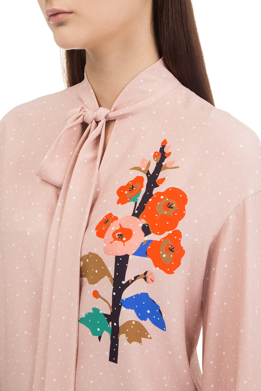 Peach printed blouse
