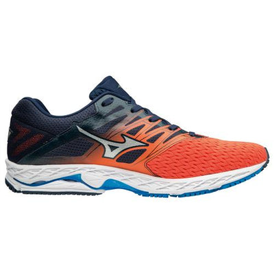 Mizuno Men's Shadow 2, Flame/ Dress Blue, 8mm Drop, Running Neutral road Lightweight