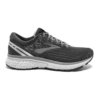 110288 Brooks Men's Ghost 11, Ebony/Grey/Silver, 12mm Drop, Running Neutral Moderate Cushion