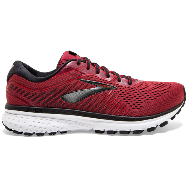 110316 Brooks Men's Ghost 12, Red, 12mm Drop, Running Neutral Moderate Cushion