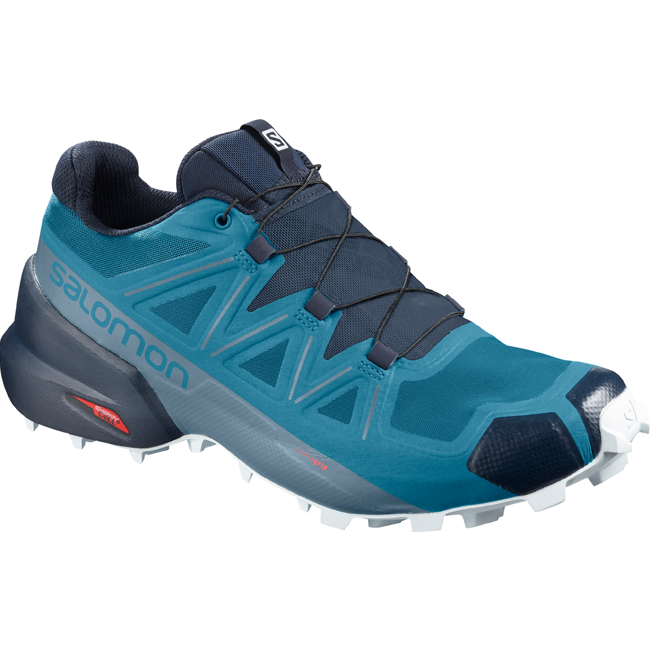 Men's Salomon Speedcross 5, Fjord Blue / Navy Blazer / Illusion Blue, 10mm Drop, Running Trail