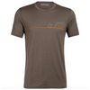 Icebreaker Men's Tech Lite Short Sleeve Crewe Single Line Camp