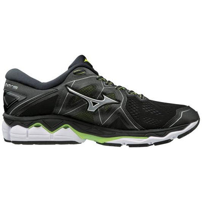 Mizuno Men's Sky 2, Black/Safety Yellow, 10mm Drop, Running Neutral Road High Cushion