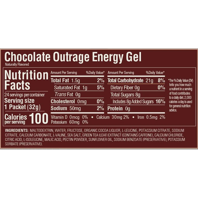 GU Chocolate Outrage Gel