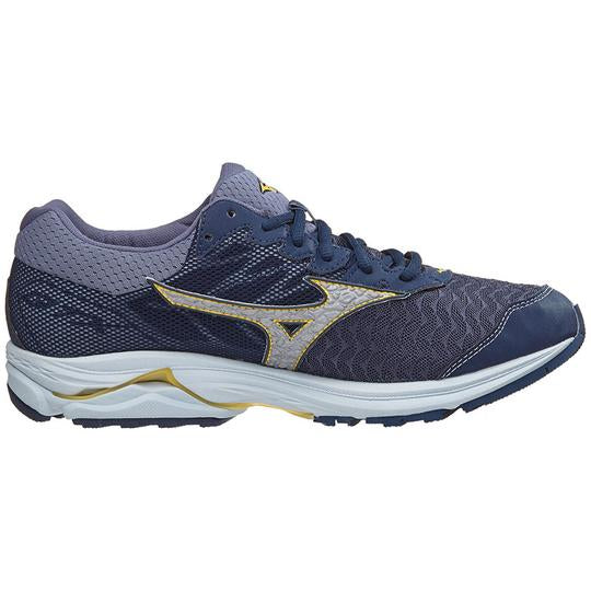 Mizuno Men's Rider 21 GTX, Dress Blue/Silver, 12mm Drop, Running Neutral Road High Cushion