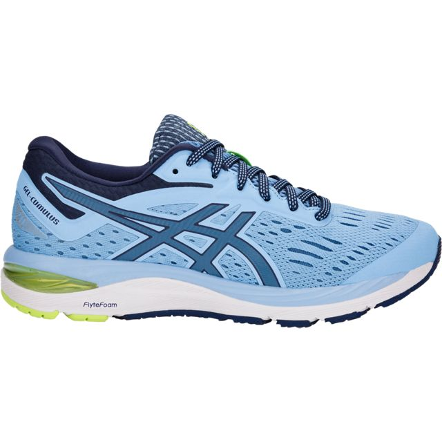 Asics Women's Cumulus 20, Azure/Blue print, 10mm Drop, Running Neutral Road Moderate Cushion
