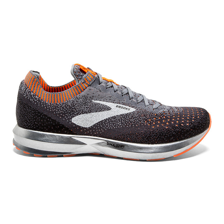 Brooks Men's Levitate 2, Black/Grey, 8mm Drop, Running Neutral Road High Cushion