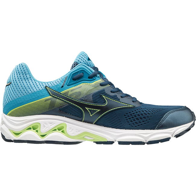 Mizuno Men's Inspire 15, Blue Wing Teal/ Dress Blue, 12mm Drop, Running stability Road