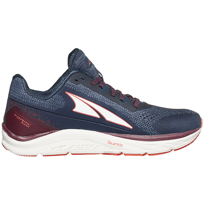 Altra Women's Torin 4 Plush, Navy/Plum, Zero Drop, Running Neutral Road High Cushion