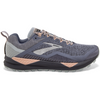 Brooks Women's Cascadia 14, Grey/Pale Peach/Pearl, 8mm Drop, Running Neutral Trail
