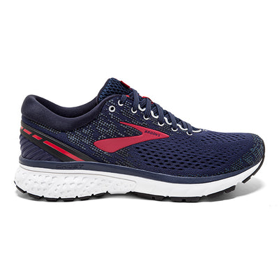 110288 Brooks Men's Ghost 11, Navy/Red/White, 12mm Drop, Running Neutral Moderate Cushion