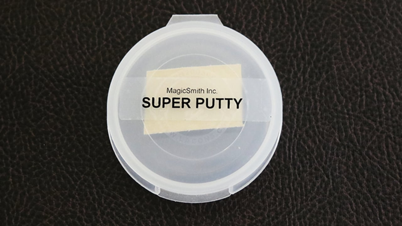 Closeup of Super Putty container top