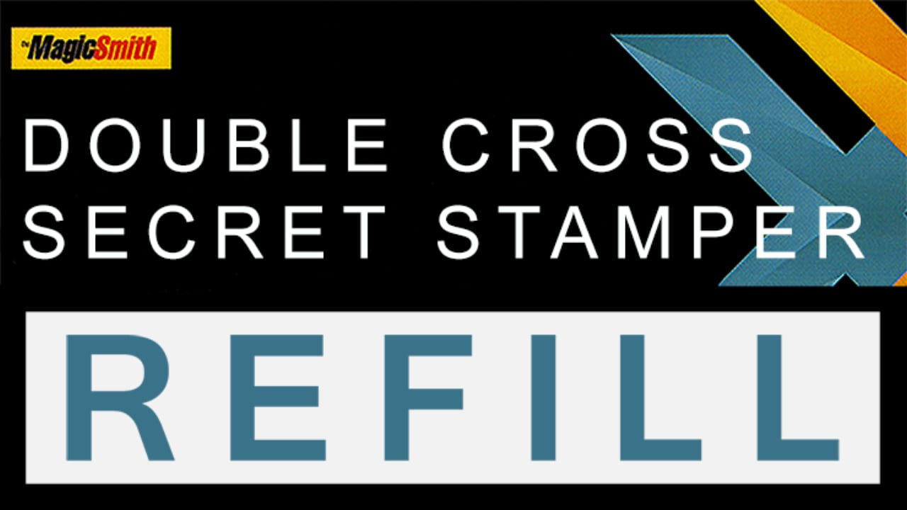 Title card showing Double Cross Secret Stamper Refill