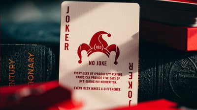 Showing face of Joker card with text about the impact of HIV medication