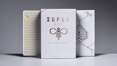 Super Bees box front with card back and box back showing from behind each side