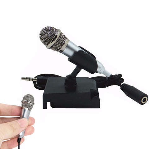 Portable Mini smart microphone, Stereo Condenser Mic for for mobile phone PC Laptop Chatting Singing Karaoke 3.5mm set