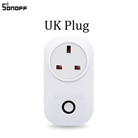 Sonoff S20 EU UK US Plug Wifi Power Socket Switch Wireless APP Remote Socket Outlet Timing Switch for Smart Home Work with Alexa