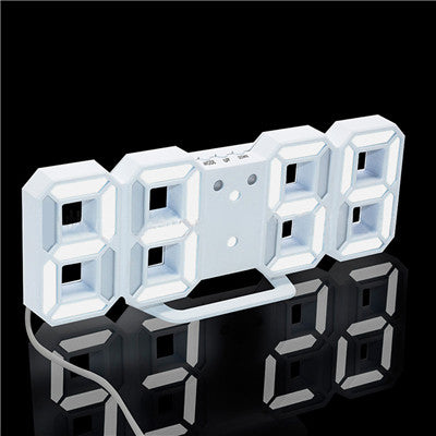 3D LED Wall Clock Digital Alarm