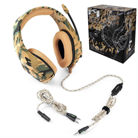 Camouflage Gaming Headset