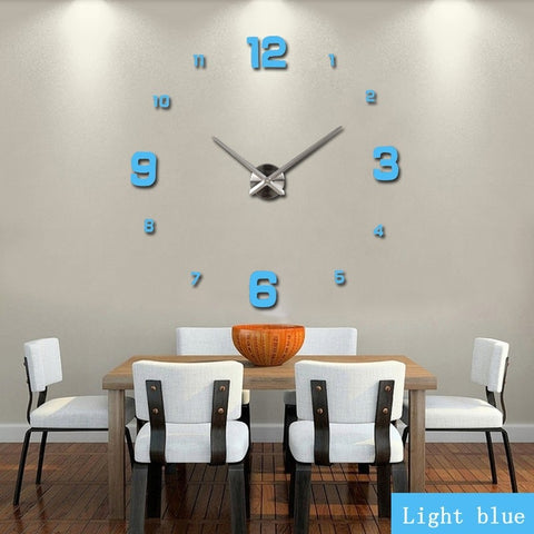 Wall Clock 3D Acrylic Mirror Home Decoration